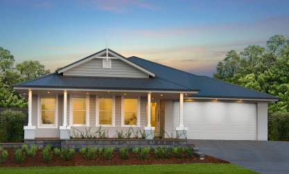 Facade - San Marino Display Home, Huntlee - McDonald Jones