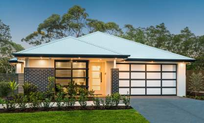 Contemporary Facade - St Tropez Display Home, Homeworld Leppington - McDonald Jones