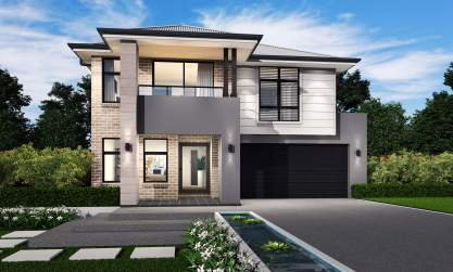 Stafford Facade - St Clair Double Level Home Design - McDonald Jones