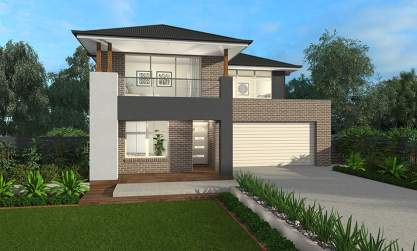 Apollo B Facade - Lexington 28 Two Storey House - McDonald Jones