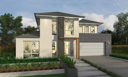 Lincoln Facade - Elanora Two Storey Home - McDonald Jones