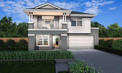 Hampton B Facade - St Clair Double Level Home Design - McDonald Jones