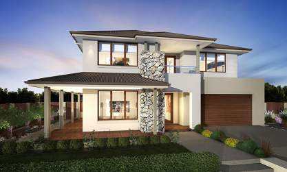 Glebe Facade - Huntingdale Two Storey Home - McDonald Jones