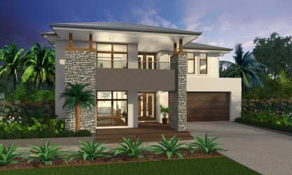 Vantage Facade - Saxonvale Luxury Double Storey Home - McDonald Jones