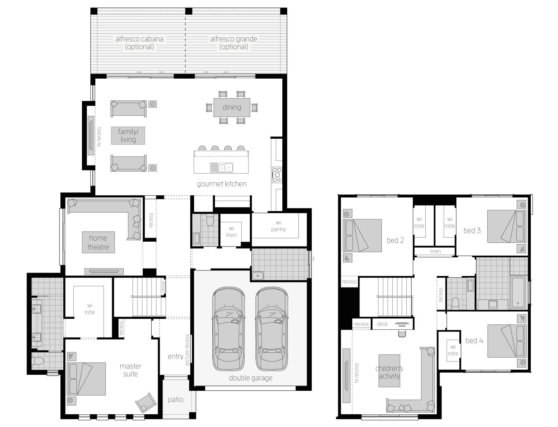 Floor Plan - Avondale 38 - Two Storey Home - McDonald Jones